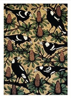 Card - Magpies and Banksias
