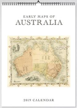 2019 Early Maps of Australia Large Calendar