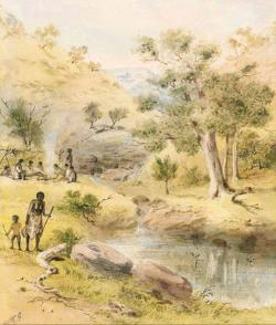 Card - Early Australian Landscape