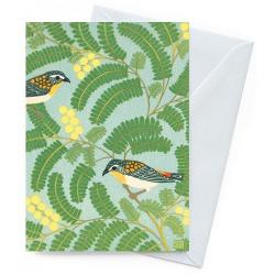 Card - Pardalotes & Wattle