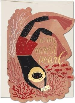 Card - Pearl Diver - Foil cut