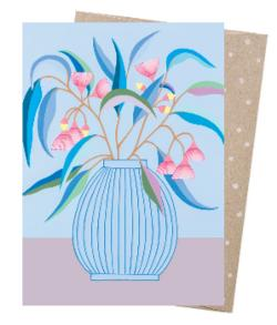 Card - Blue Gum Vase
