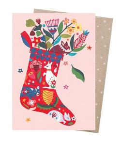 Christmas Card - Folk Stocking