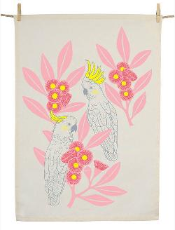 Tea Towel - Silver Gum Cockatoos