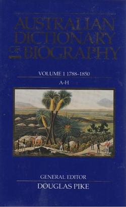 Australian Dictionary of Biography, V.1