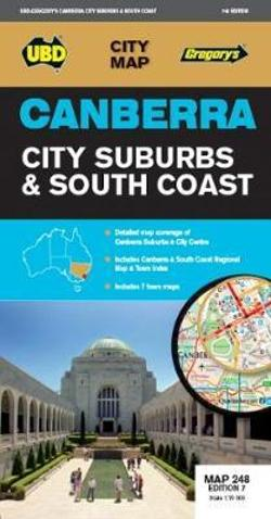 Canberra City Suburbs & South Coast Map 248 7th ed