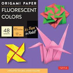 Origami Paper Fluorescent - 48 Sheets