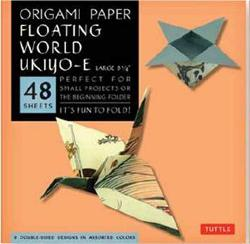 Origami Paper Floating World Ukiyo-e Large