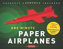 One Minute Paper Airplanes Kit - 12 Pop-Out Planes Easily Assembled in Under a Minute