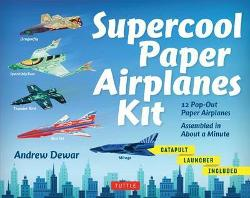 Supercool Paper Airplanes Kit - 12 Pop-Out Paper Airplanes; Assembled in About a Minute
