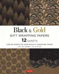 Black and Gold Gift Wrapping Papers