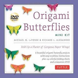 Origami Butterflies Mini Kit - Fold Up a Flutter of Gorgoues Paper Wings!